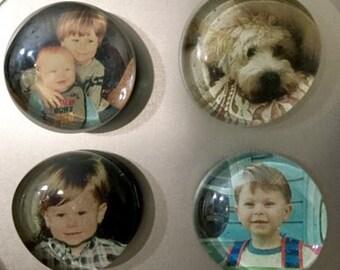 Custom Glass Photo Magnets (set of 4 or 6)