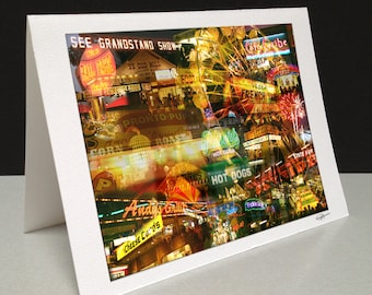 State Fair After Dark 5 x 7 Greeting Card - Minnesota State Fair