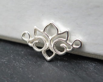 Sterling Silver Lotus Connector 14mm