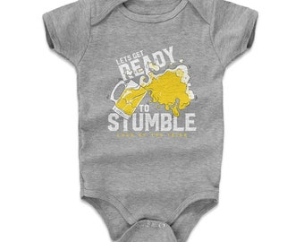 St. Patrick's Day Baby Clothes | Drinking Kids Baby Romper | Lets Get Ready To Stumble Wht