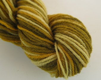50g Corn Field Golden Brown Space Dyed Natural Dye DK Wool Yarn