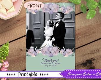 Wedding Thank you card Printable - Wedding Thank you  - Custom Wedding card - Wedding card - wedding printable - Digital printable
