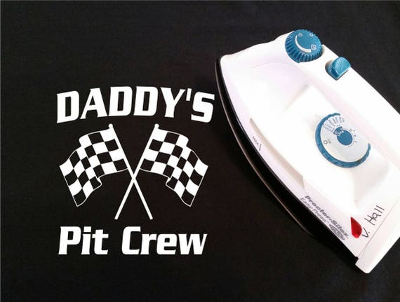 Diy iron on transfer daddys pit crew do it yourself like this item solutioingenieria Image collections