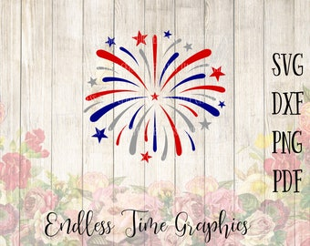 Firework SVG. 4th of July SVG. Svg Cutting File. Red White Blue Svg. 4th of July Decal. Firework Decal. Digital Decal. 4th Vinyl Decal 282