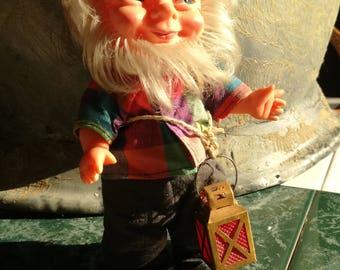 Vintage, doll, Doll, Dwarf, Dwarf, GNOME, IMP, GNOME, GDR, GDR, rubber, 17.8 cm, Ostalgie, nostalgia of GDR