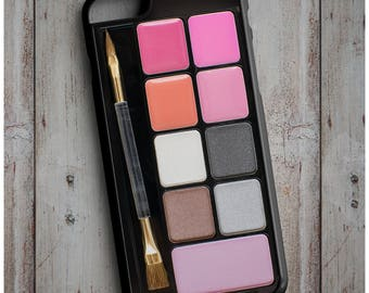 Makeup Set, Blusher, Eye shadows Palette Set Print Cool New Case Cover for any iPhone