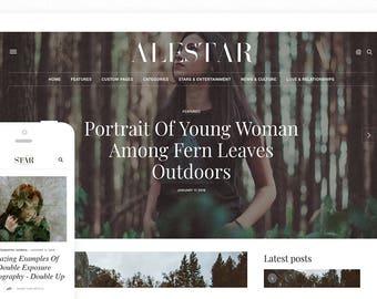 ALESTAR | Premade Blogger Template - Responsive Blogger Theme - premade blog template, blogger design, blog design