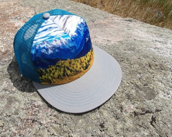 Blue Mountain- Teen+ or Adult Trucker Hat. Inspired by youth and an outdoor lifestyle!