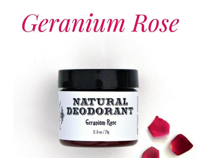 Geranium Rose Natural Deodorant