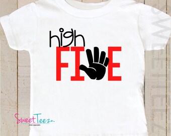 Birthday Shirt Fifth Birthday Shirt High Five Boy Shirt
