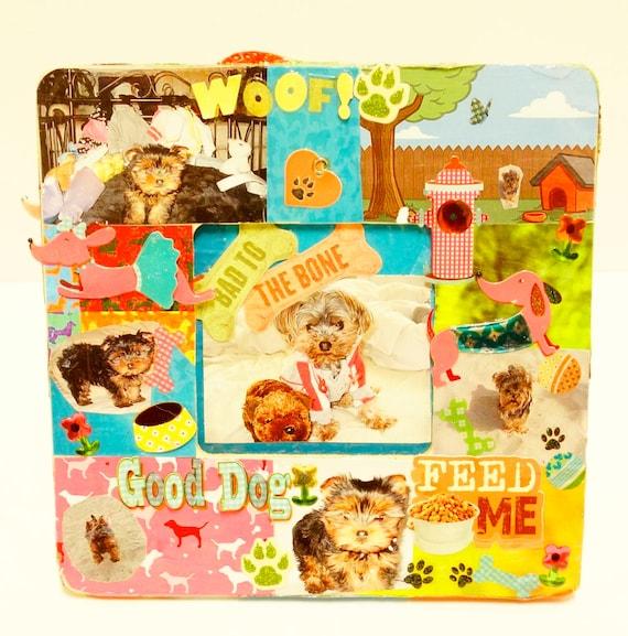 Lindo personalizado perro marco marcos de fotos 3d regalo