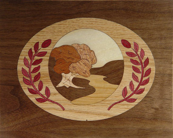 """8""""x 10"""" Marquetry Project Kit - Cameo"""