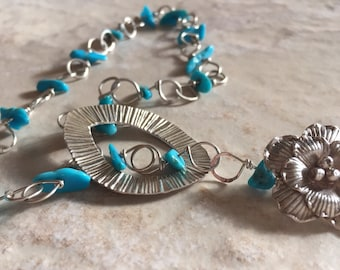 Turquoise On Chain Necklace