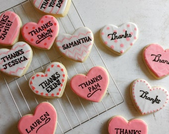 Thank you Cookies-gifts to say thank you-heart cookies