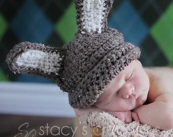 Crochet Baby Hat, Crochet Bunny Hat, Baby Bunny Hat, Easter Bunny Baby Hat, Baby Boy Bunny Hat, Baby Girl Bunny Hat, Newborn Bunny Hat