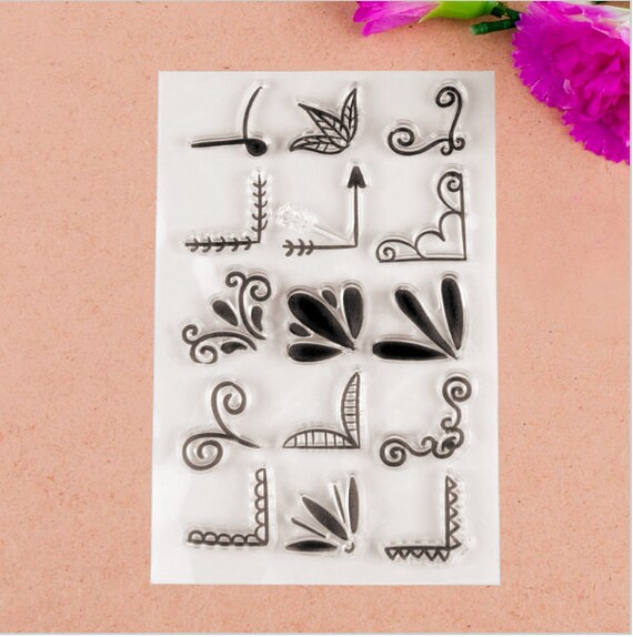 Corner Design Transparent Clear Rubber Stamp Seal Paper Craft Scrapbooking Decoration Card Making Collage DIY From DewAndDaisies On Etsy Studio