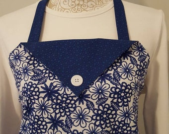 Ladies fabric apron, Kitchen apron, gift for cook