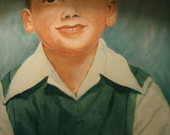 Cleo Hayne, 1963 large portrait of boy