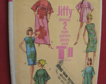 Vintage Simplicity 6351 Sewing Pattern Size 10 Bust 31 Jiffy Muu Muu in Two Lengths and Shift Dress