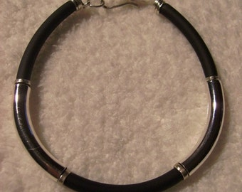 Bracelet - Rubber and Silver