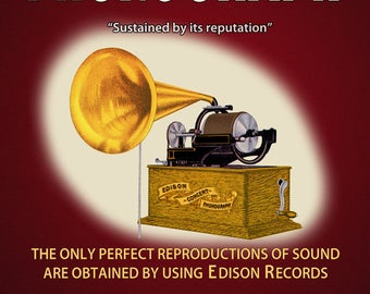 Reproduced vintage Edison Concert  Phonograph,  National Phonograph Co. Canvas Print