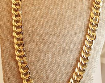 Vintage Monet 26 inch Curb Chain Goldtone