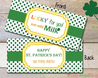 Lucky For You! - St. Patrick's Day Treat Topper - Printable and Personalized