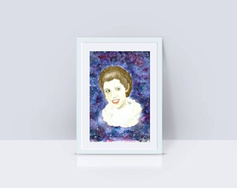 America's Princess - Carrie Fisher Tribute - Giclee Print