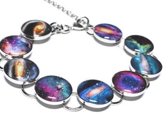 Galaxy Space Bracelet, Galaxies, Nebula, Resin Jewelry, Handmade Jewelry, Space Jewelry, Solar System, Lunar, Moon