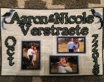 Customized wedding picture frame.