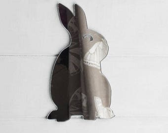 Sitting Bunny Rabbit Acrylic Mirror