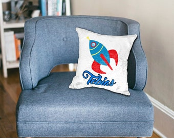 Space/spaceship/rocket/Boy Sequin Pillow/Custom printed sequin mermaid pillow case/hidden image/secret image/Personalized