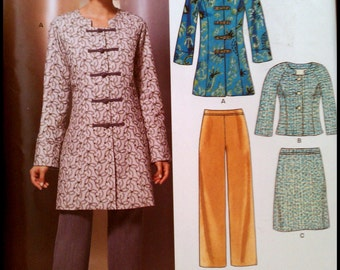 New Look 6855  Misses' Jacket, Pants And Skirt   Size (8-18)  UNCUT