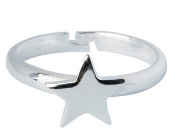 Silver Star RingMens Silver Signet Ring Mens Cool Ring Mens Ring Silver Ring Mens Gift Fashion Ring Designer Formal Ring Party Mens  198S