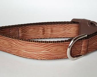 Wood Grain Dog Collar / Masculine Dog Collar