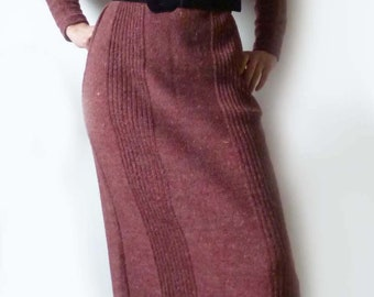 Knitted dress, late 70s. Size S-M, 36-38