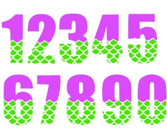 Mermaid Numbers Only Personal and Commercial Use Digital File SVG DXF Studio Instant Download