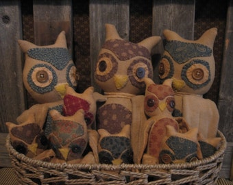 Hoot Owls E-pattern by Make Me a Memory Primitives and Folk Art