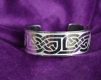 Celtic Art Knot of Eternity Friendship Bracelet Cuff Bangle Handmade in England