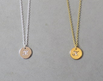 Engraved Initial K Necklace