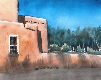 Bosque Evening - Original watercolor painting