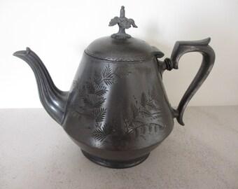 Antique English Silver Teapot ES & S EP