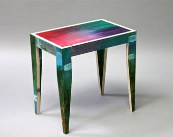 handmade, hand painted coffee table,artistic,unique