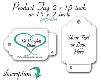 Price Tag, Custom Tag, Jewelry Tags, Display Label, Clothing Tag, Display Tag, Perforated Tags, Tear Off Price Tags