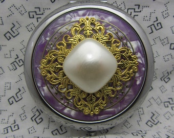 Compact Mirror - Gabby Comes With Protective Pouch - Mothers Day Gift - Gift under Twenty