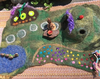 Nutty Squirrel's Country Home Felted Play Mat
