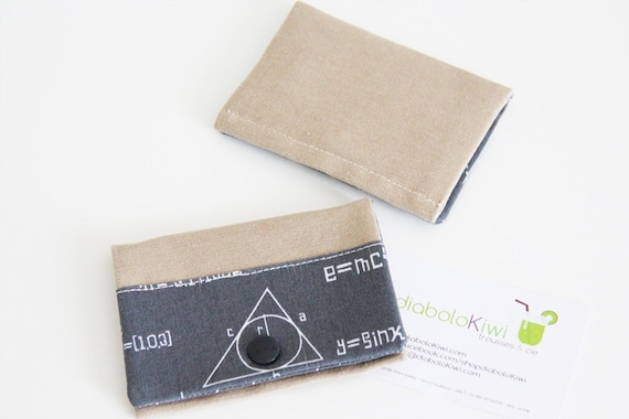 Card holder - sciences - gray - chemistry - geek - maths - business cards - shopping cards - Sciences - Gray
