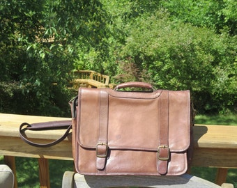 Dads Grads Sale Colombian Brown Leather Briefcase Messenger Bag Laptop IPad Case - Bargain Bag