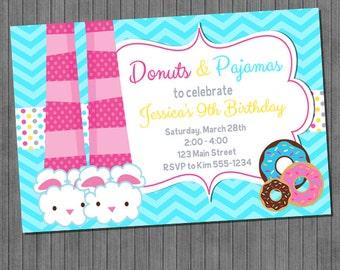 Donuts and Pajamas Invitations