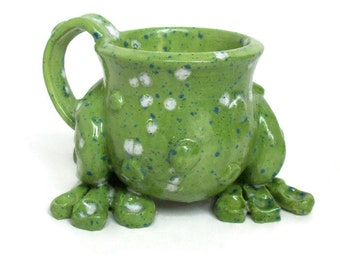 Ceramic Mug - Frog Leg Mug with Warts - Made to Order